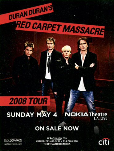 Red Carpet Massacre Tour US flyer