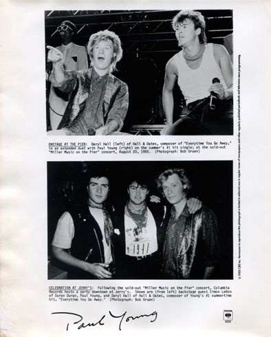 Simon LeBon, Paul Young and Daryl Hall